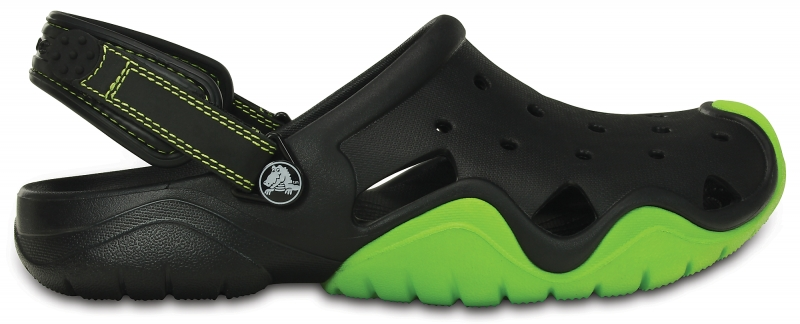 Crocs Swiftwater Clog - Black/Volt Green, M9/W11 (42-43)