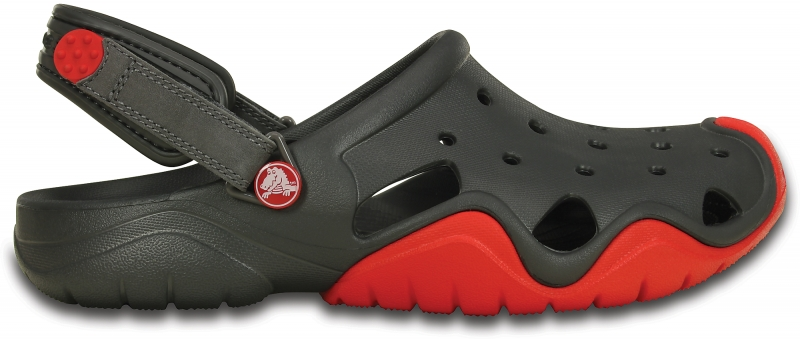 Crocs Swiftwater Clog - Graphite/Flame, M8/W10 (41-42)
