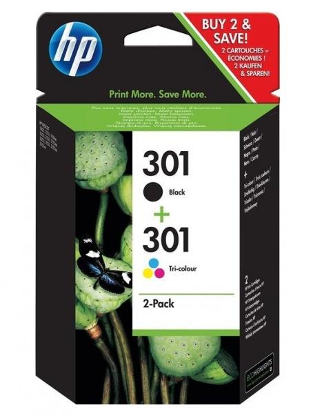 Inkoustové kazety HP 301 (HP301, HP-301, N9J72AE) combo pack - Originální N9J72AE