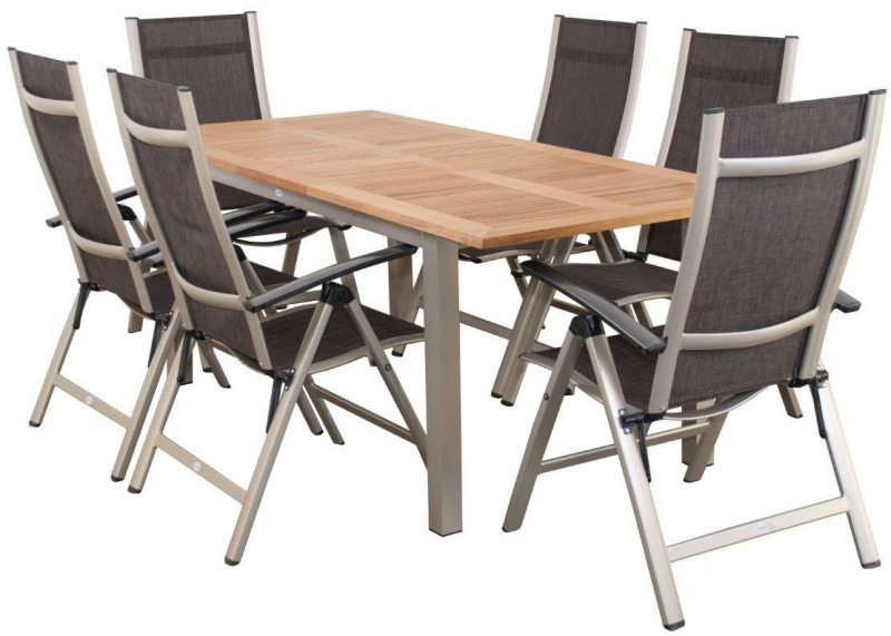 Zahradní sestava Doppler Forest Atlantis, rozkládací stůl + 6 polohovací křesla