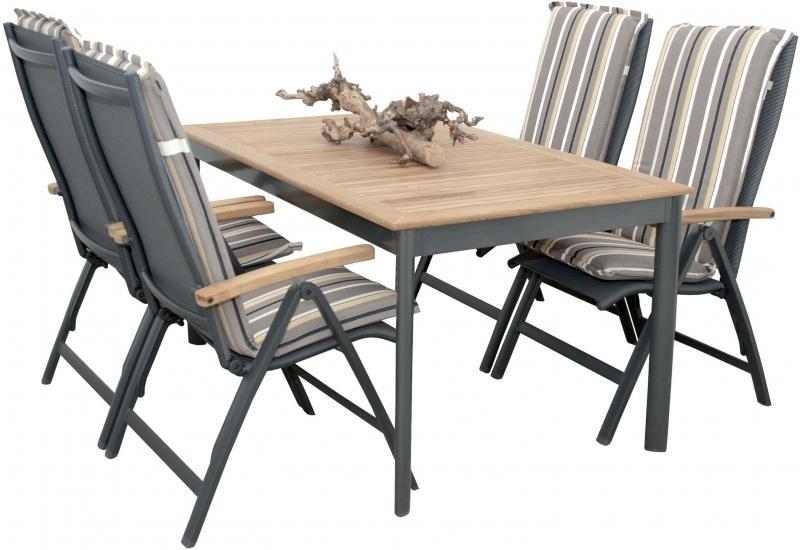 Zahradní sestava Doppler Concept, stůl + 4 polohovací křesla