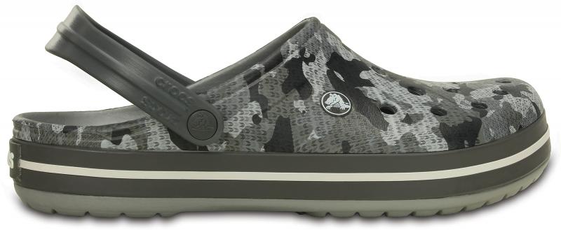 Crocs Crocband Camo Clog - Charcoal, M11 (45-46)