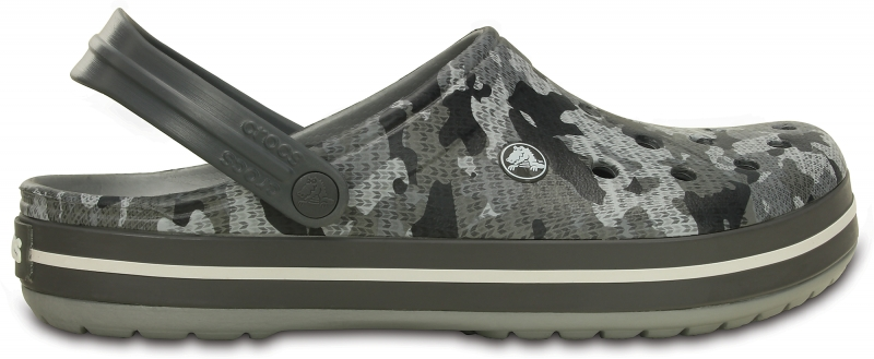 Crocs Crocband Camo Clog - Charcoal, M12 (46-47)