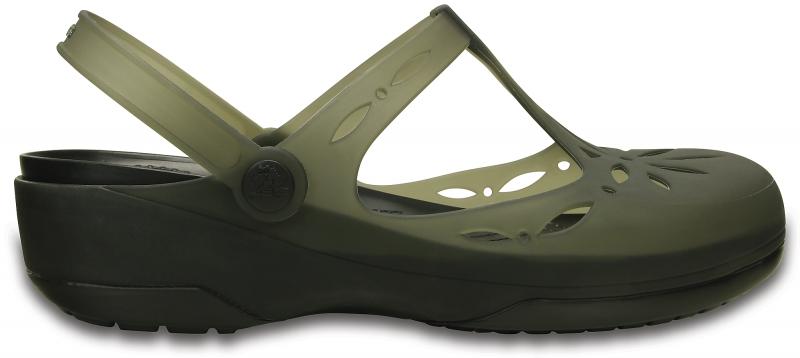 Crocs Carlie Cutout Clog - Black, W6 (36-37)