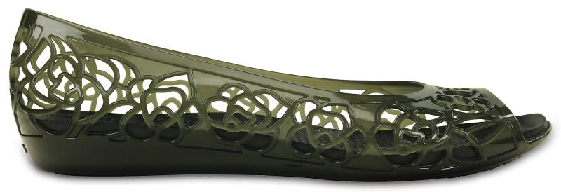 Crocs Isabella Jelly Flat - Black, W9 (39-40)