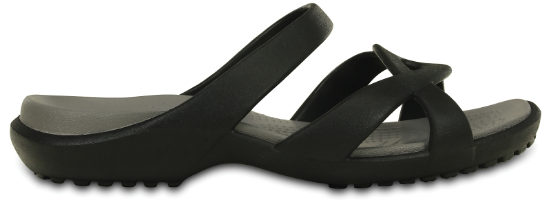 Crocs Meleen Twist Sandal - Black/Smoke, W6 (36-37)