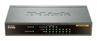 D-Link DES-1008PA 8x10/100 Desktop Switch, 4xPoE DES-1008PA
