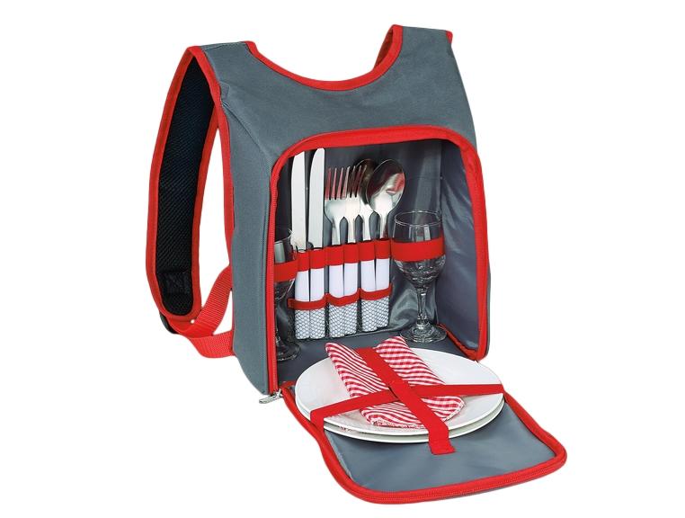 Cilio piknikový batoh Lido, šedo-červený