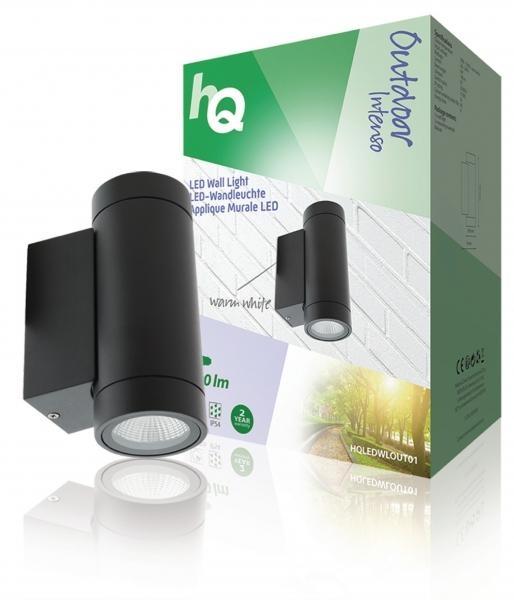 Nástěnné LED svítidlo HQ, kulaté, antracitové