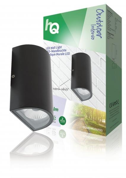 Nástěnné LED svítidlo HQ, oválné, antracitové