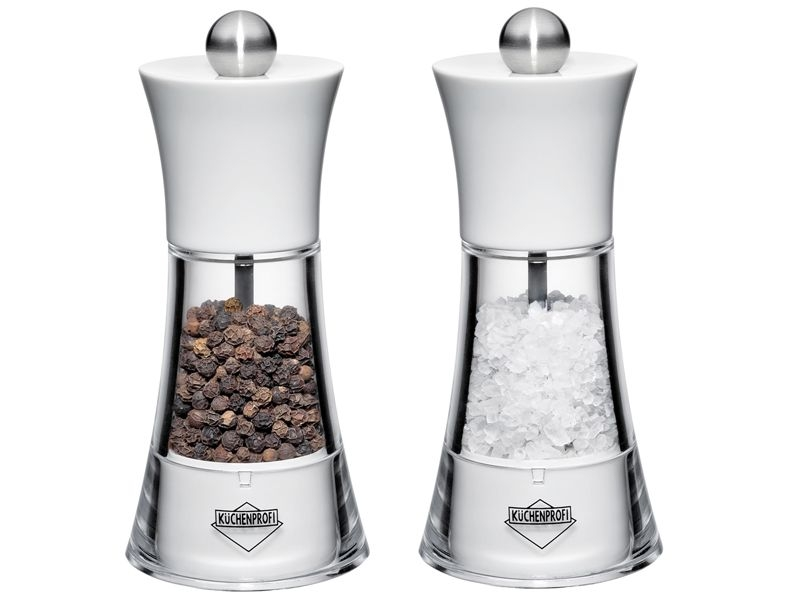 Küchenprofi set akrylových mlýnků na sůl a pepř Winston
