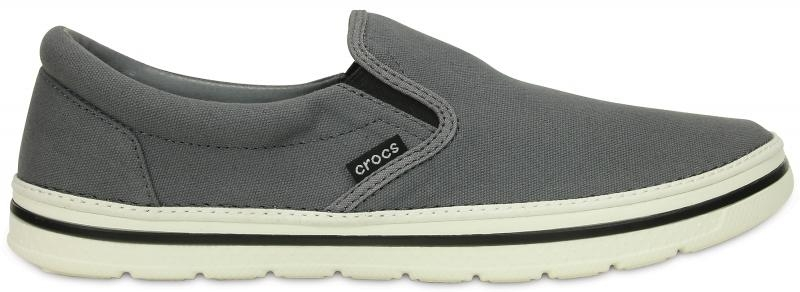 Crocs Norlin Slip-on - Charcoal/White, M9 (42-43)
