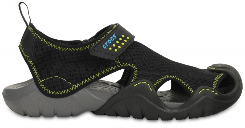 Crocs Swiftwater Sandal - Black/Charcoal, M10/W12 (43-44)