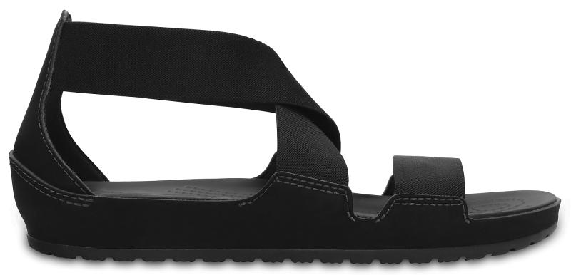 Crocs Anna Ankle Strap Sandal Black, W10 (41-42)