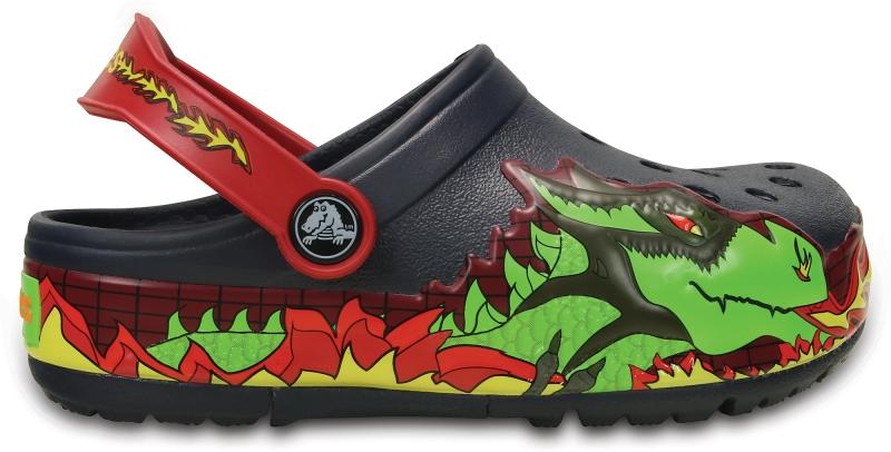 Crocs Lights Fire Dragon Clog - Navy, C10 (27-28)