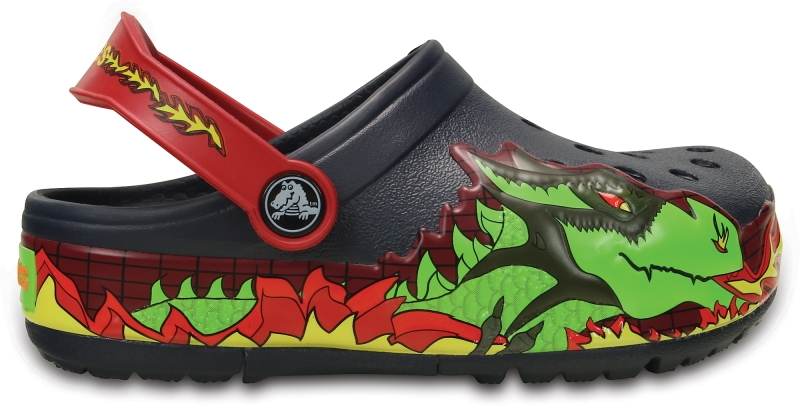 Crocs Lights Fire Dragon Clog - Navy, C12 (29-30)