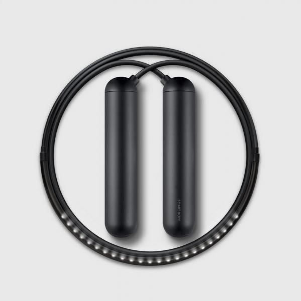 Chytré švihadlo SMART ROPE®, dobíjecí baterie, LED, aplikace Smart Gym - velikost XL SR_BK_XL