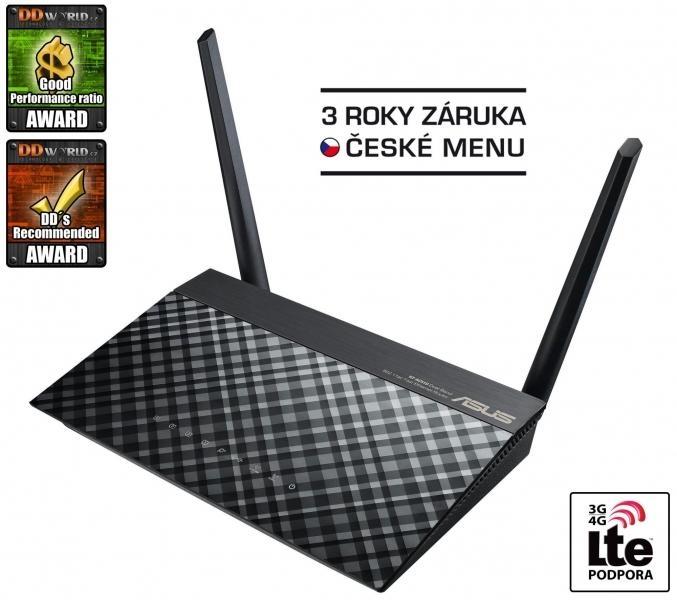 ASUS RT-AC51U, Špičkový dvoupásmový bezdrátový router AC750 pro domácnosti i cloudové využití, Dual Band 90IG0150-BM3G00