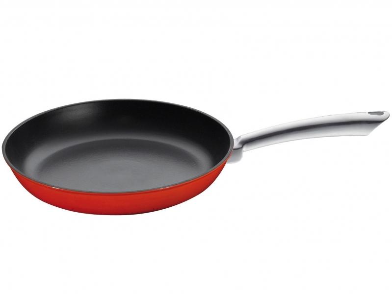 Küchenprofi litinová pánev s nerezovou rukojetí Provence, 24 cm - Červená