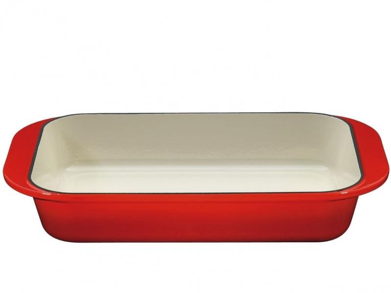 Küchenprofi litinový pekáč Provence, 43 x 25 cm - Červený