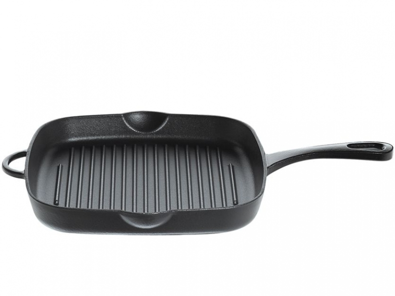 Küchenprofi litinová grilovací pánev Provence, 25.5 x 28 cm - Černá