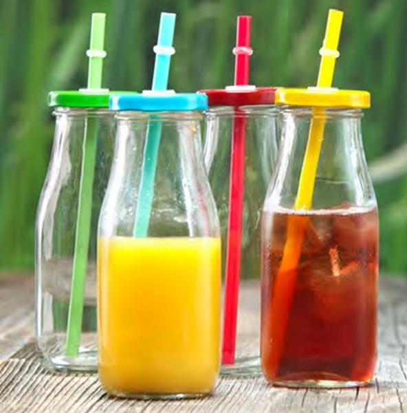 Ritzenhoff & Breker sada lahví se slámkou Summer, 300 ml, 4 ks