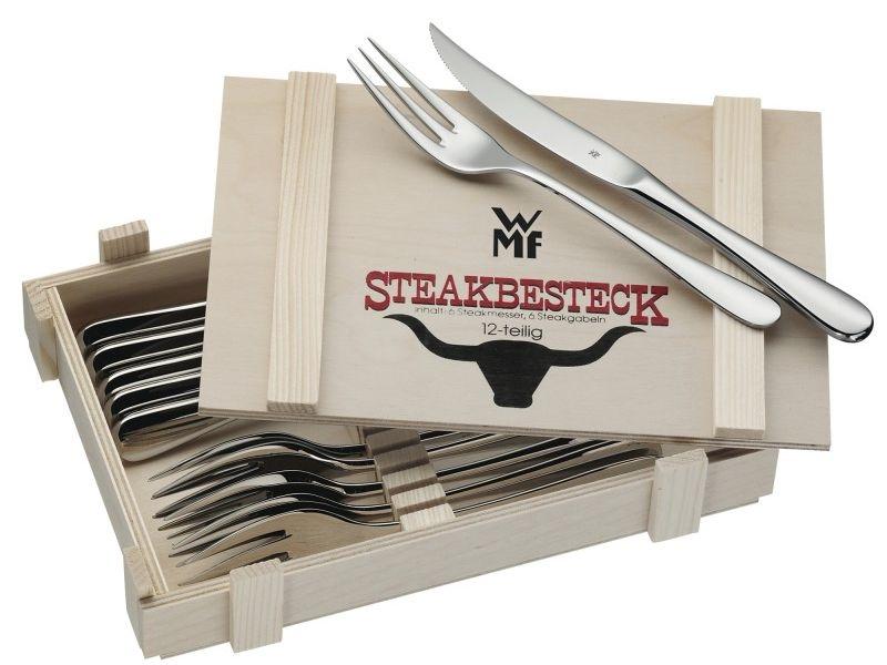 WMF sada steakových příborů v dřevěném boxu, 12 ks