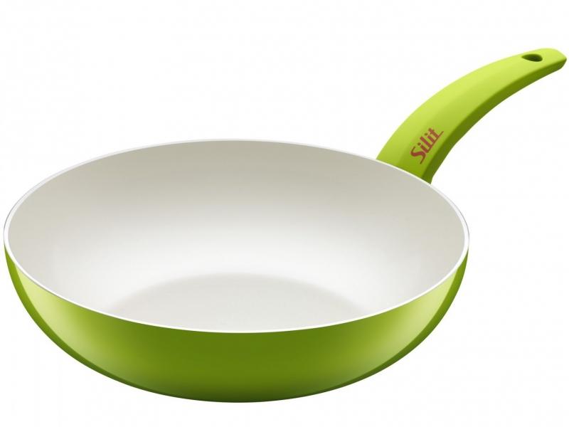 Silit wok pánev Selara, 28 cm - Zelená