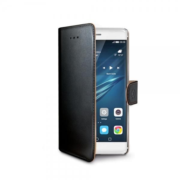 Pouzdro typu kniha Celly Wally pro Huawei P9 - černé WALLY576