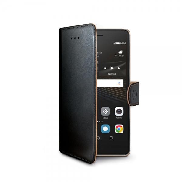 Pouzdro typu kniha Celly Wally pro Huawei P9 Lite - černé WALLY564