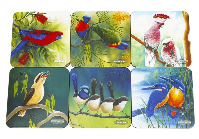 Maxwell & Williams sada podtácků Birds of Australia, 6 ks