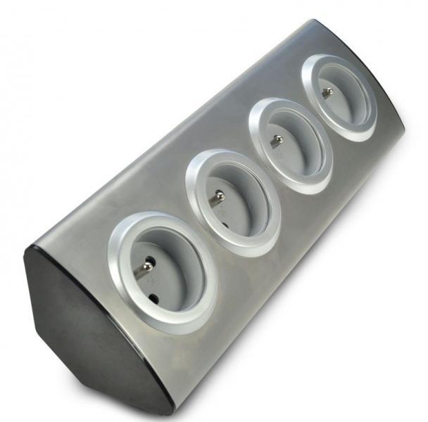 Solight vícenásobná zásuvka, 4 zásuvky, rohový design (PZ10)