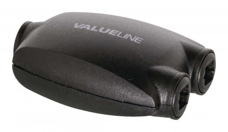 2portový digitální audio rozbočovač Toslink, zásuvka – 2x zásuvka, černý (VLASP2502)