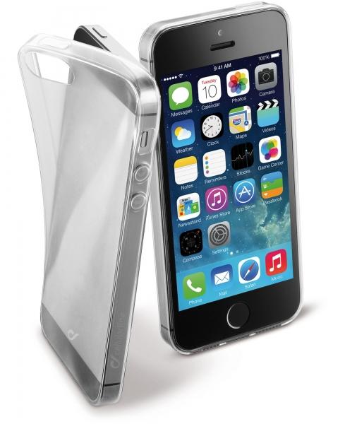 Zadní kryt CellularLine Fine pro Apple iPhone 5/5S/SE, čirý FINECIPH5ST