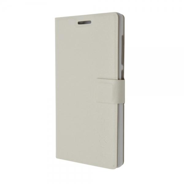 Pouzdro typu kniha FIXED s gelovou vaničkou pro ASUS Zen Fone 2 Laser ZE500KL - bílé FIXBC-078-WH