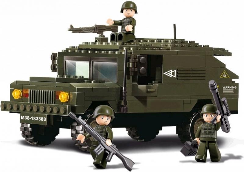Stavebnice Sluban Army Terénní Hummer, 191 dílků M38-B9900