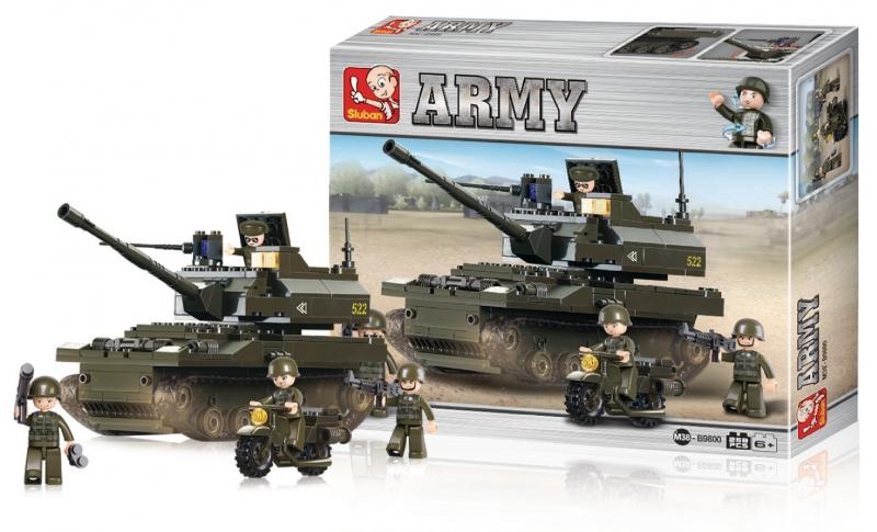 Stavebnice Sluban Army Tank K9, 258 dílků