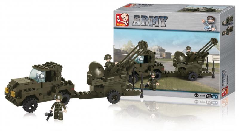 Stavebnice Sluban Army Protiletadlová Obrana, 224 dílků M38-B7300