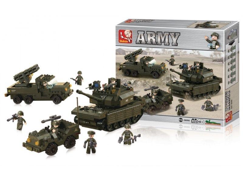 Stavebnice Sluban Army sada, 602 dílků M38-B6800