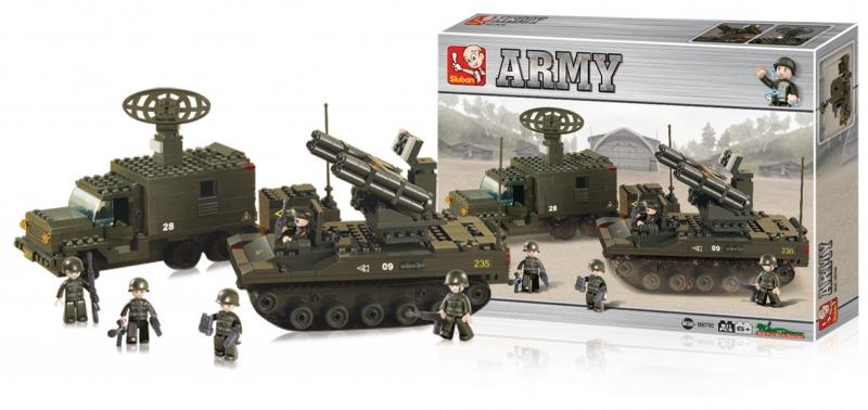 Stavebnice Sluban Army Raketová jednotka, 511 dílků M38-B6700