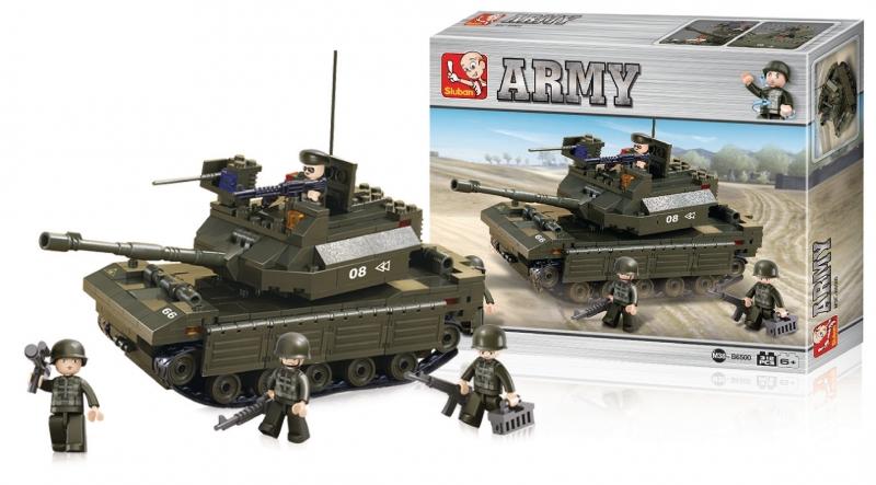 Stavebnice Sluban Army Tank, 312 dílků M38-B6500