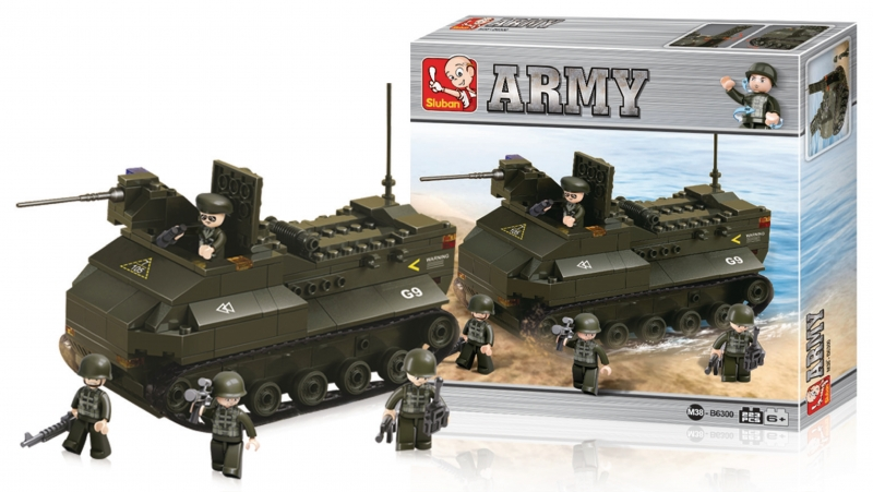 Stavebnice Sluban Army Obojživelný tank, 223 dílků M38-B6300