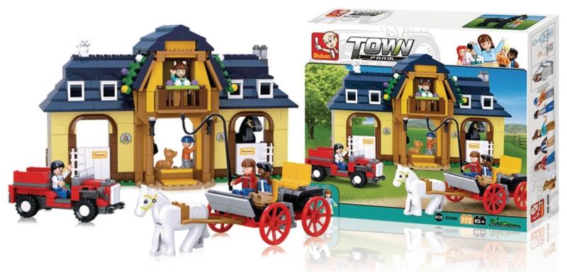Stavebnice Sluban Town Koňská farma, 525 dílků M38-B0560