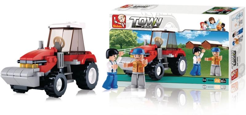 Stavebnice Sluban Town Traktor, 102 dílků M38-B0556