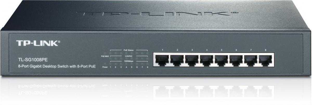 TP-Link TL-SG1008PE 8x Gigabit PoE+ Switch TL-SG1008PE