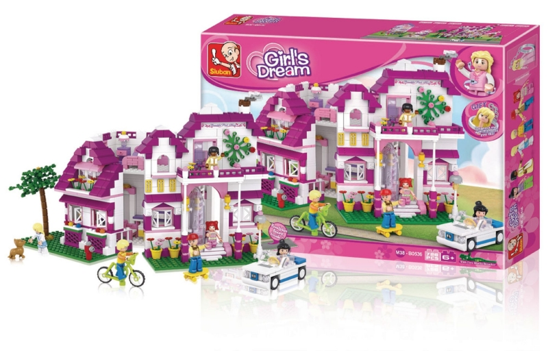 Stavebnice Sluban Girls Dream Luxusní vila, 726 dílků M38-B0536