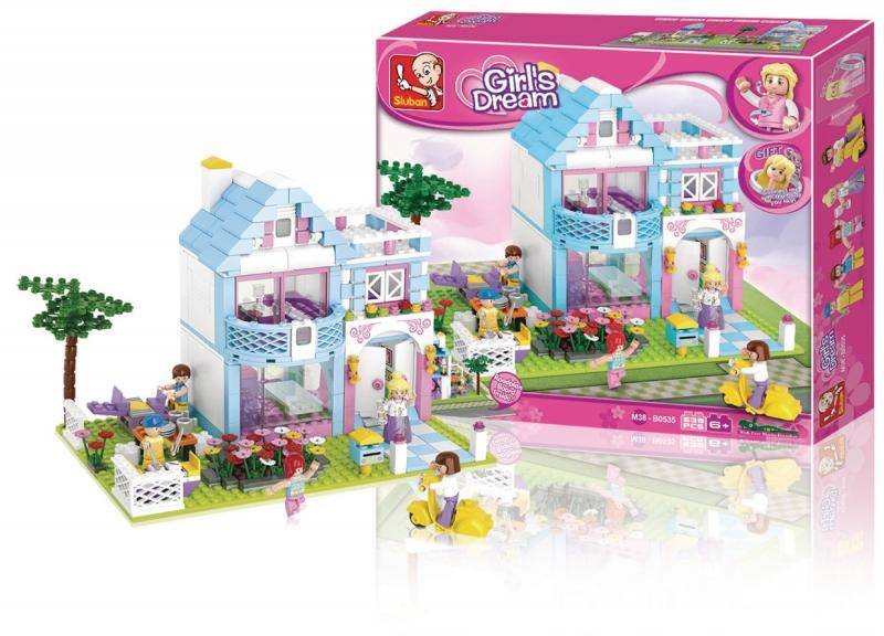 Stavebnice Sluban Girls Dream Rodinný dům, 539 dílků M38-B0535