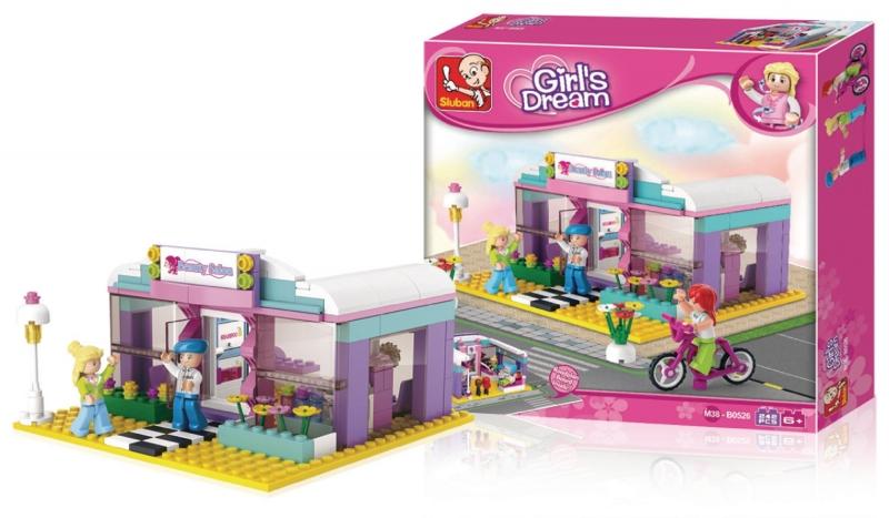 Stavebnice Sluban Girls Dream Salón krásy, 242 dílků M38-B0526