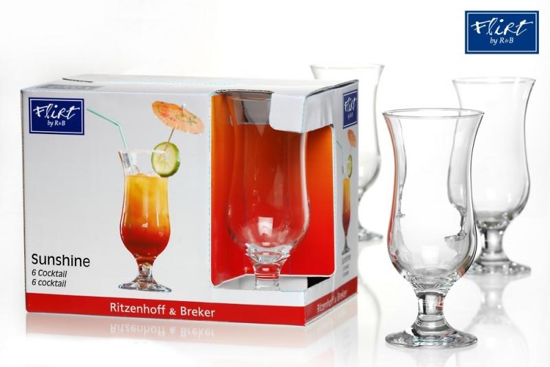 Ritzenhoff & Breker sada koktejlových sklenic Sunshine, 450 ml, 6ks
