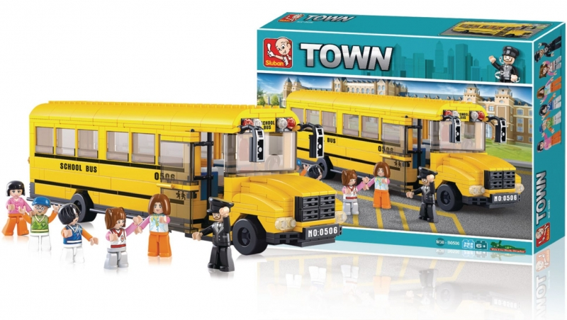 Stavebnice Sluban Town Velký školní autobus, 382 dílků M38-B0506